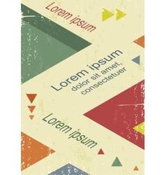 Avant-garde retro triangle poster vector