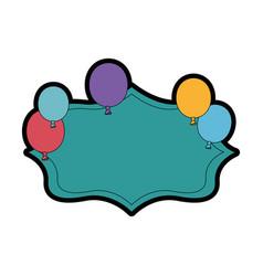 Balloon banner globe vector