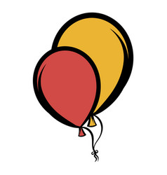 balloons icon cartoon vector image vector image