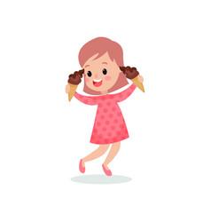 beautiful girl feeling happy with her ice creams vector image vector image