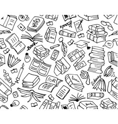 Books collection seamless pattern for your design vector