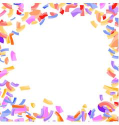 bright abstract confetti circle explosion vector image vector image