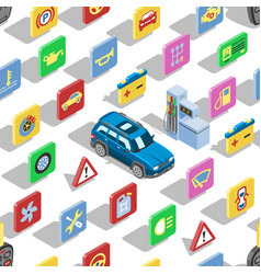 Car automotive icons isometric automobile vector