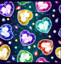 cartoon beautiful jewelry seamless pattern vector image vector image