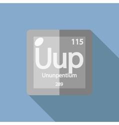Chemical element ununpentium flat vector