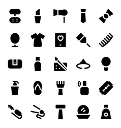 Clothes icons 6 vector