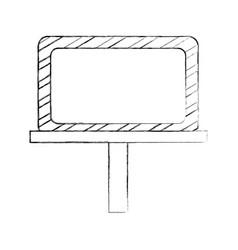 construction banner board icon vector image