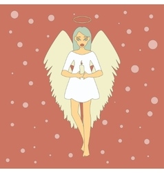 Cute Christmas Angel with Candle vector image vector image