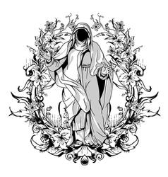 dark gothic t-shirt design vector image vector image