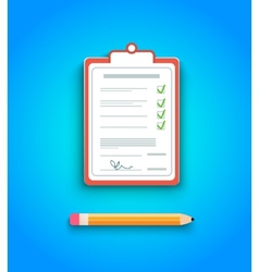 Delivery signature clipboard vector