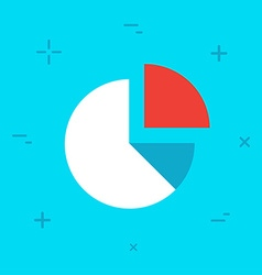 Diagram flat minimal style colorful icon vector