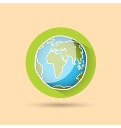 Doodle globe icon vector image vector image