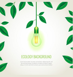 Ecology light bulb growing up vector