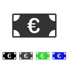 Euro banknote flat icon vector
