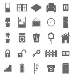 House related icons on white background vector image vector image
