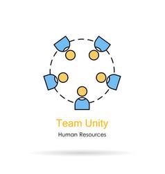 linear logo - team unity vector image