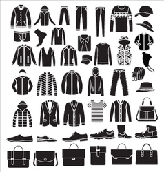 Mens fashion Clothes and accessories - vector image