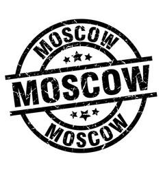 Moscow black round grunge stamp vector