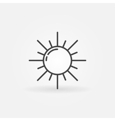 Outline sun icon vector image vector image