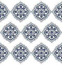 Persian seamless white floral pattern design vector