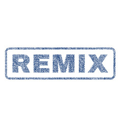 Remix textile stamp vector