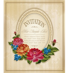 vintage frame and faded paper vector image vector image