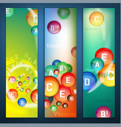 Vitamins complex banners vector