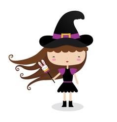 Witch Girl vector image