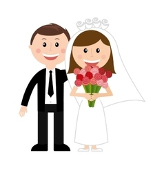Couple man woman love icon vector