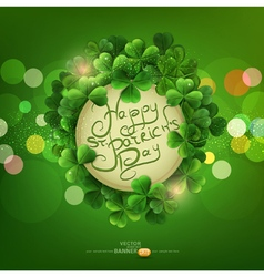 Green background the holiday svpatrika vector