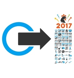 Logout Icon With 2017 Year Bonus Pictograms vector image
