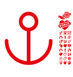 Anchor icon with lovely bonus vector