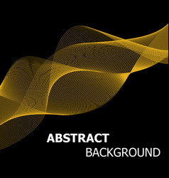 Abstract golden line wave background vector