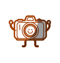 Happy camera icon vector
