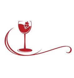 Wine emblem vector