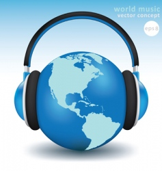 world music concept vector image