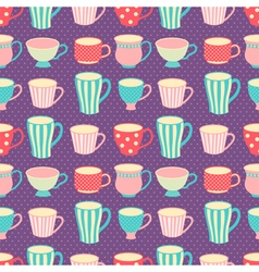 Cups pattern vector