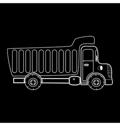 Truck with body for bulk goods vector
