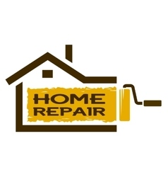The emblem of home repair services vector