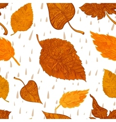 Seamless background autumn foliage vector