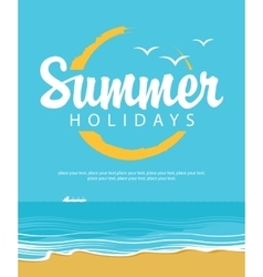 Beach and summer holidays vector