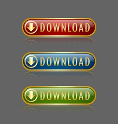 Download buttons vector