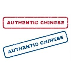 Authentic chinese rubber stamps vector