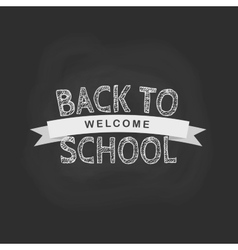 Back to school concept in flat style chalk vector