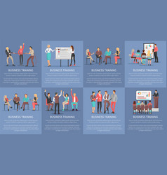business training seminars set of posters vector image vector image