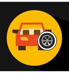 Car front wheel icon design vector