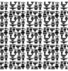 Different Vases Seamless of Amphora Pattern vector image