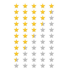 five stars rating vector image vector image