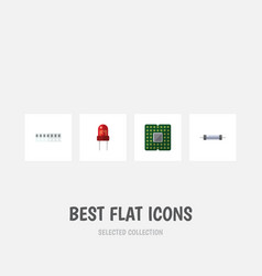Flat icon appliance set of recipient unit memory vector