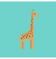 Flat icon stylish background cartoon giraffe vector